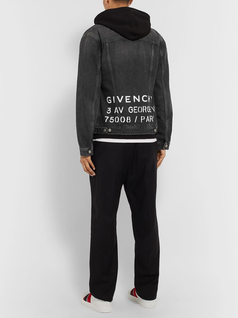 Givenchy Logo-Print Denim Jacket