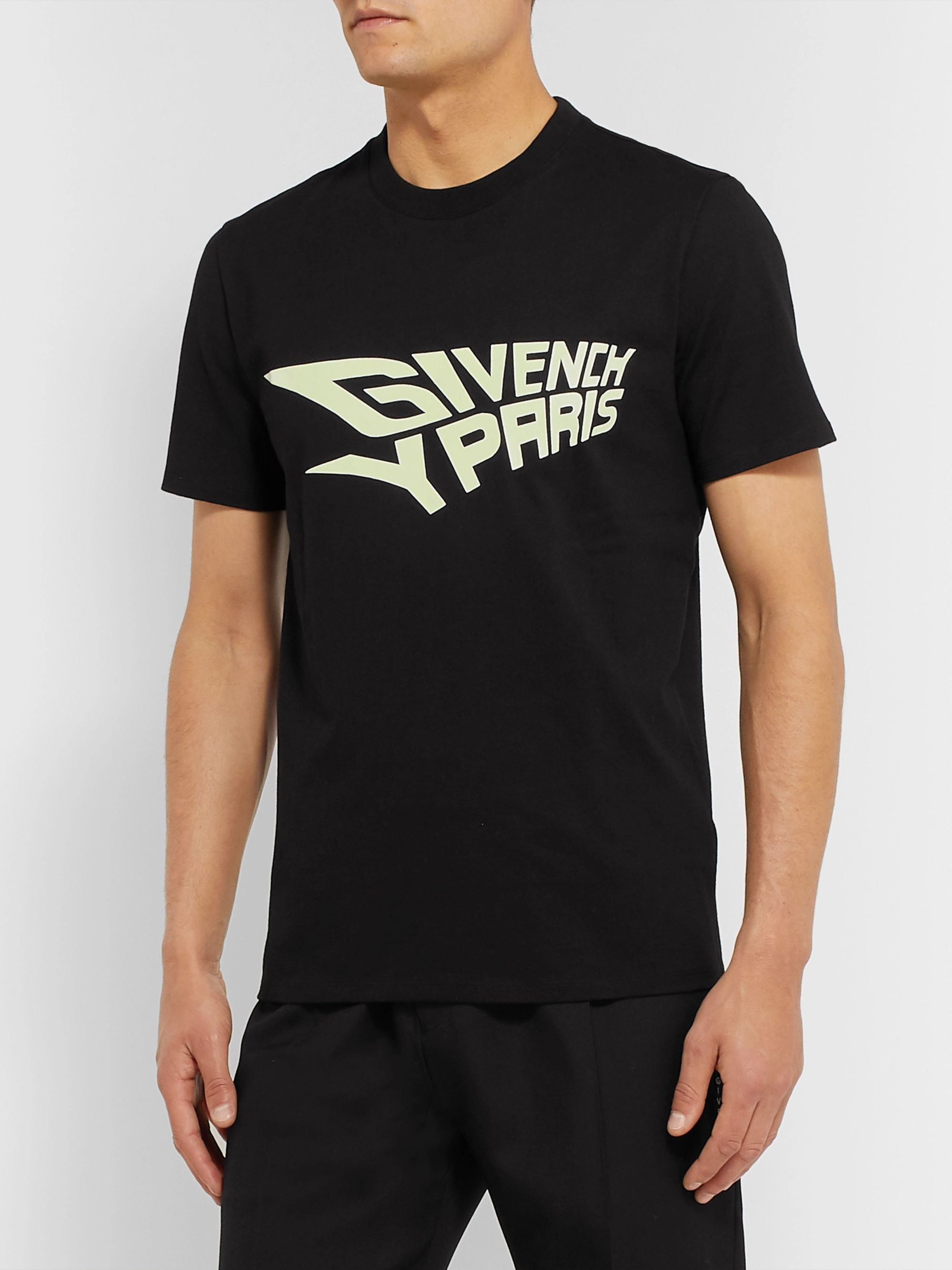 Givenchy Glow-in-the-Dark Logo-Print Cotton-Jersey T-Shirt