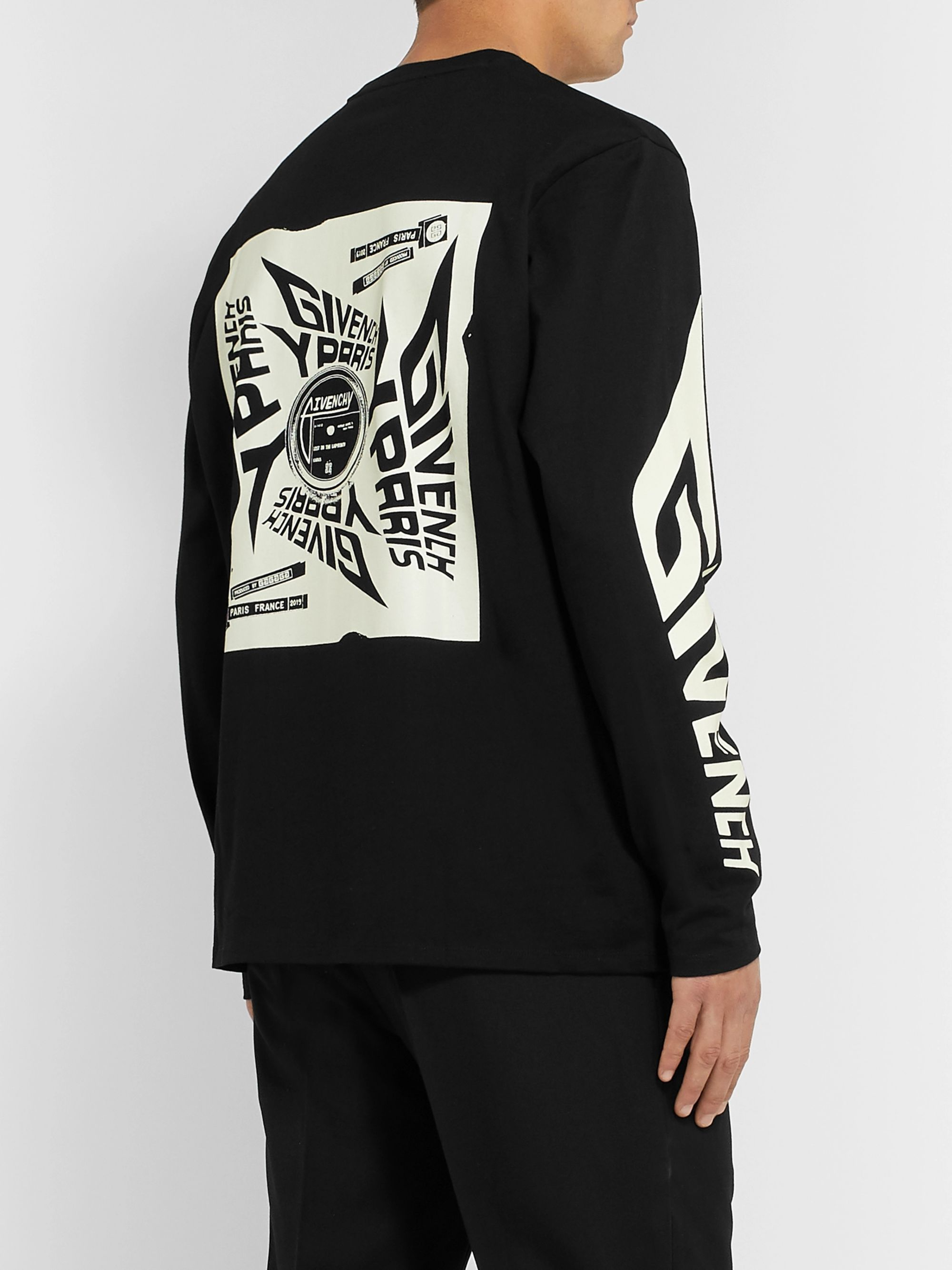 Givenchy Glow-in-the-Dark Printed Cotton-Jersey T-Shirt