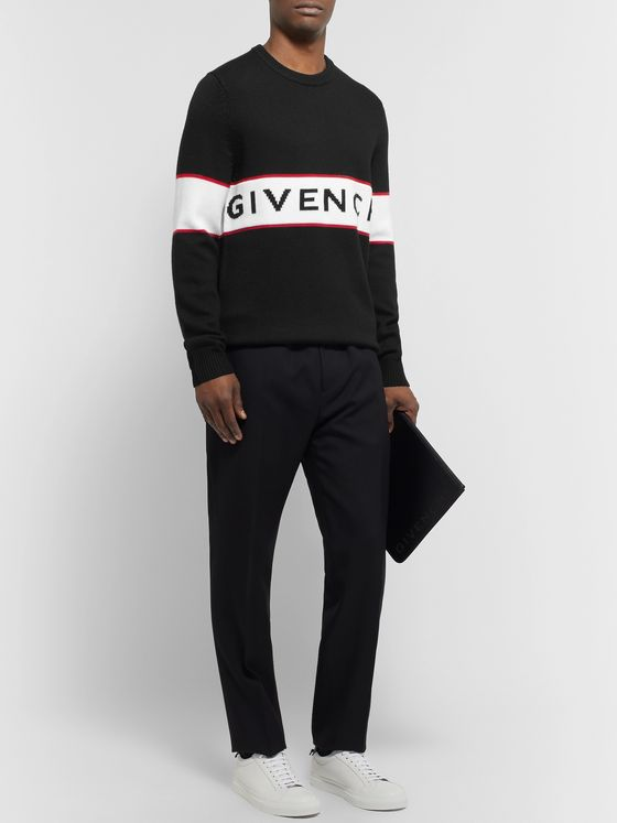 GIVENCHY Logo-Intarsia Wool Sweater