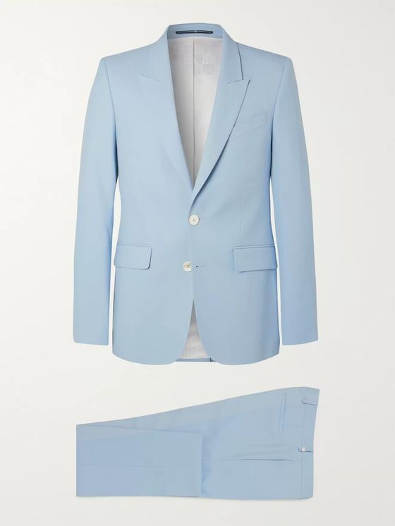 Givenchy Light-Blue Slim-Fit Wool-Twill Suit