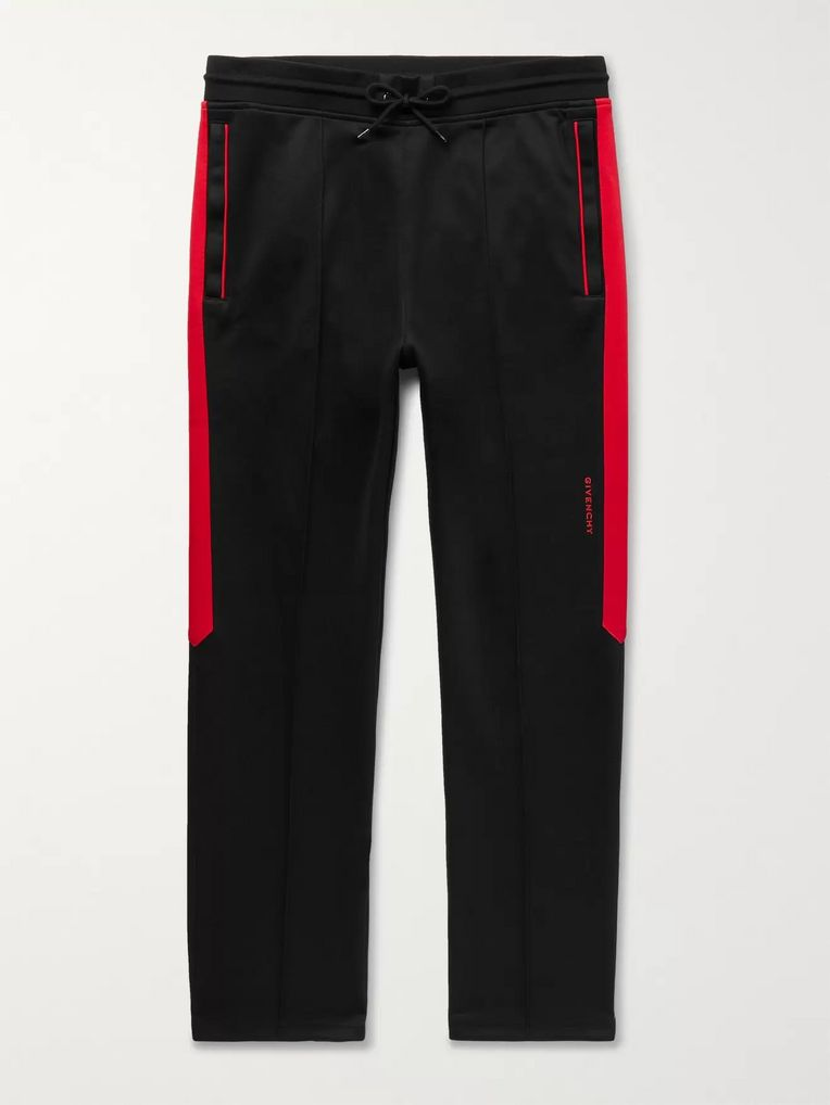 Givenchy Logo-Detailed Striped Jersey Sweatpants
