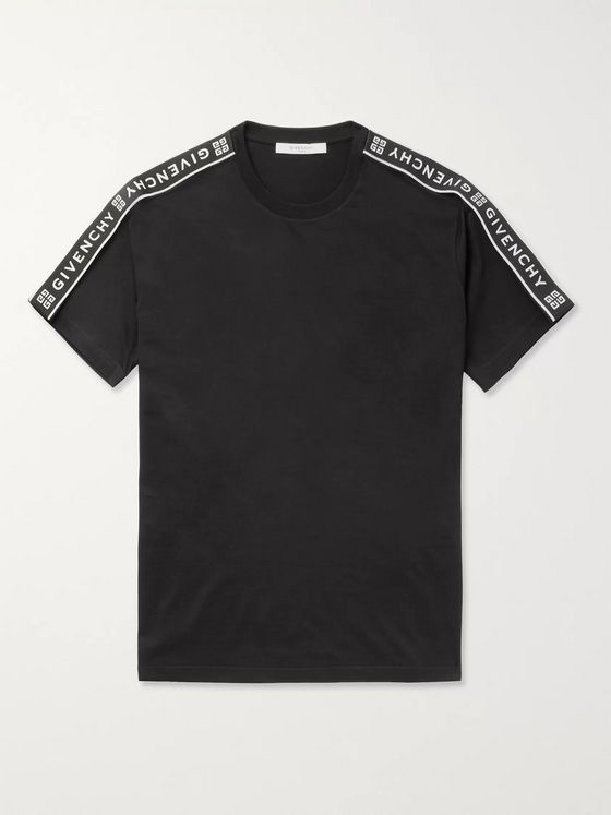 Givenchy Logo-Jacquard Cotton-Jersey T-Shirt