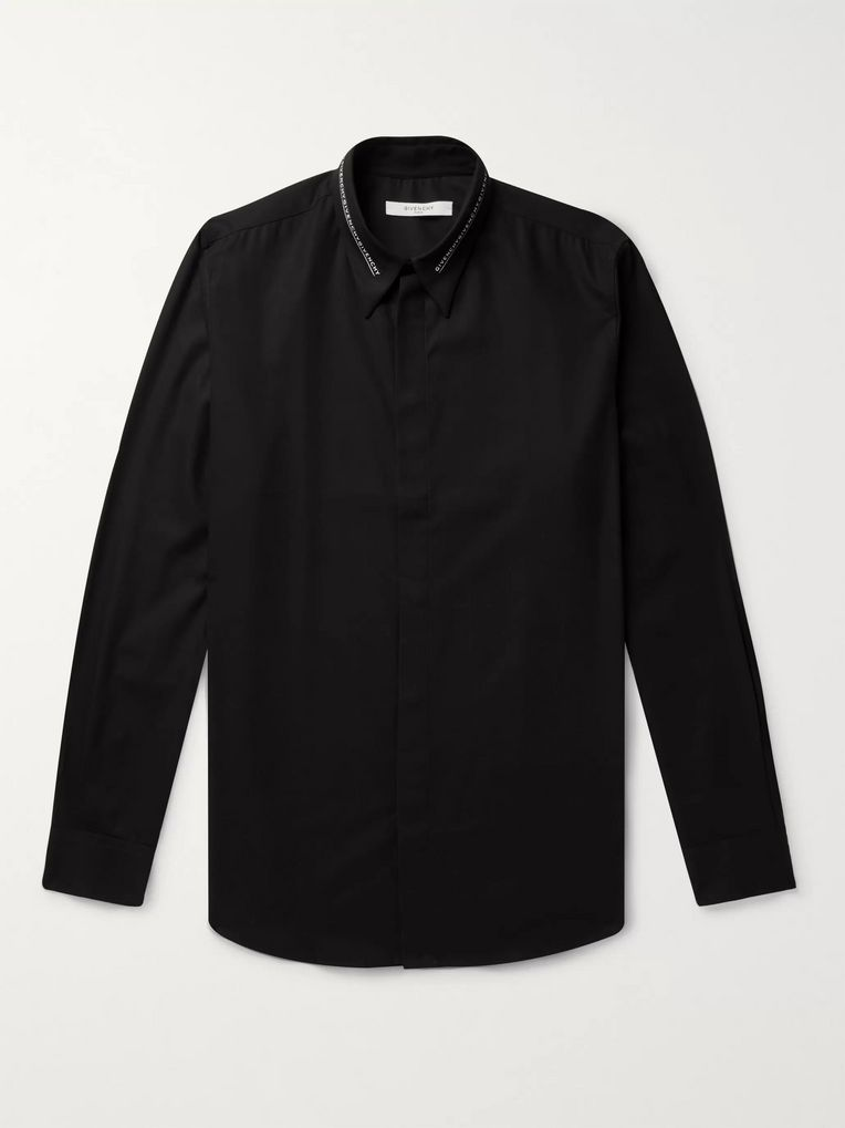 Givenchy Logo-Trimmed Cotton-Poplin Shirt