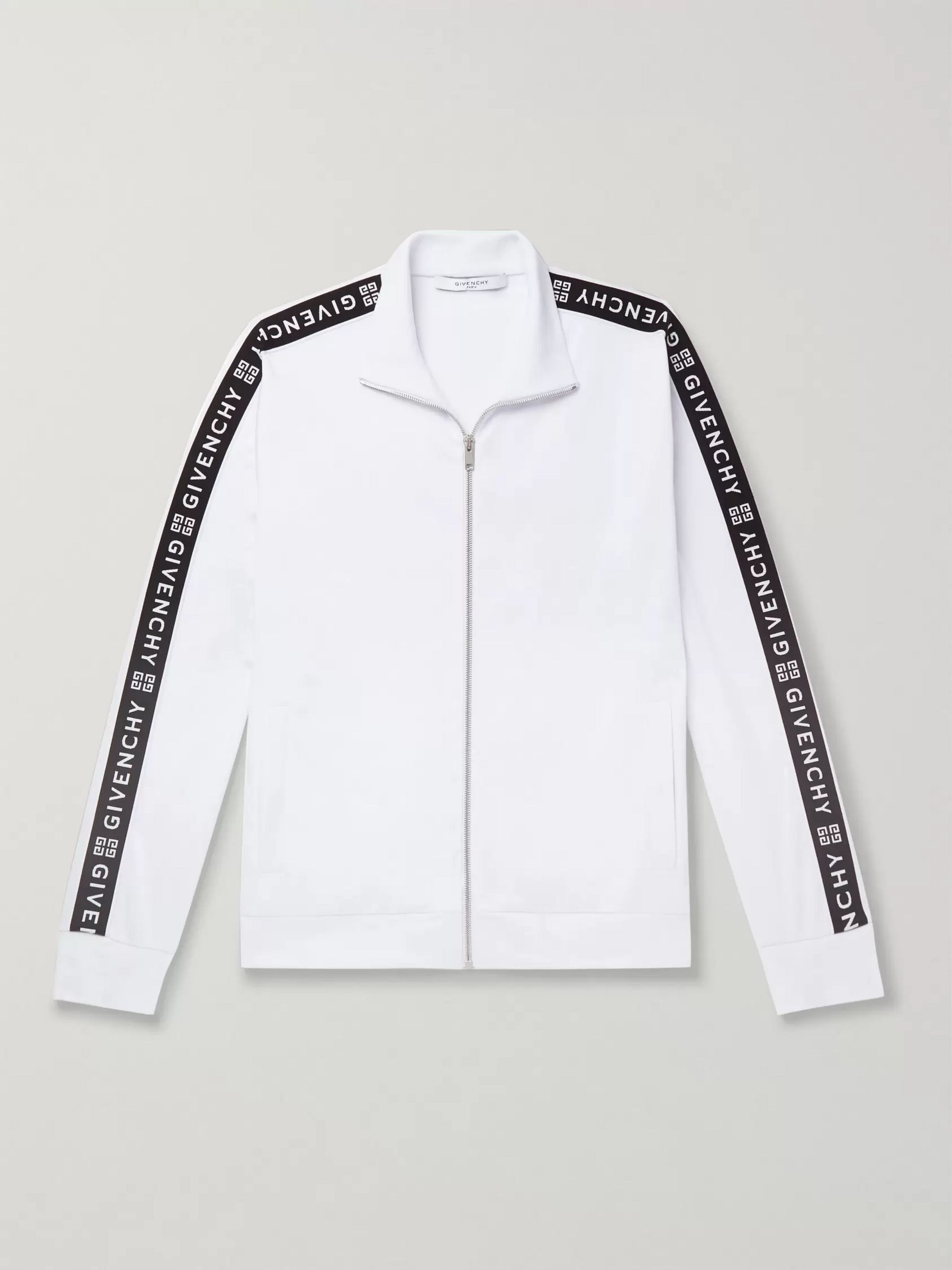 Givenchy Webbing-Trimmed Tech-Jersey Track Jacket