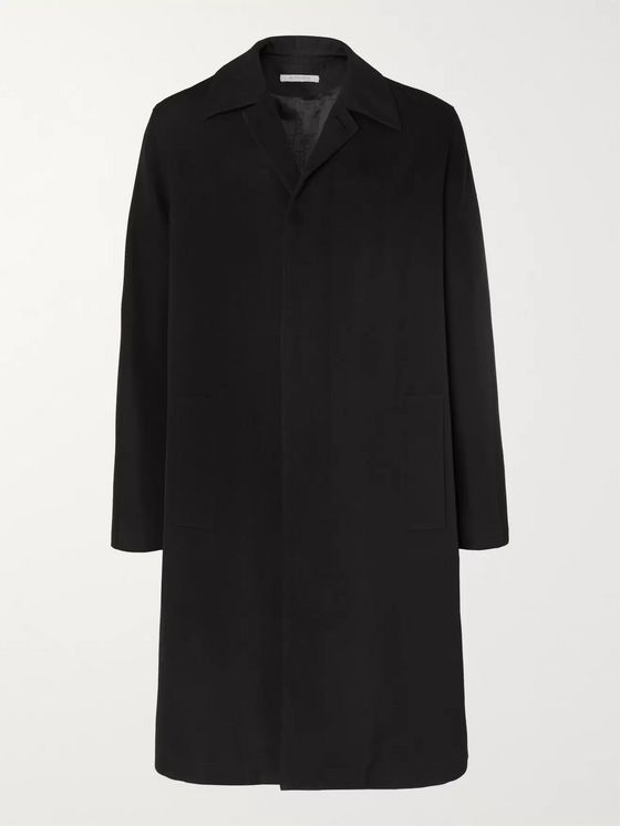 Givenchy Oversized Logo-Print Virgin Wool Coat