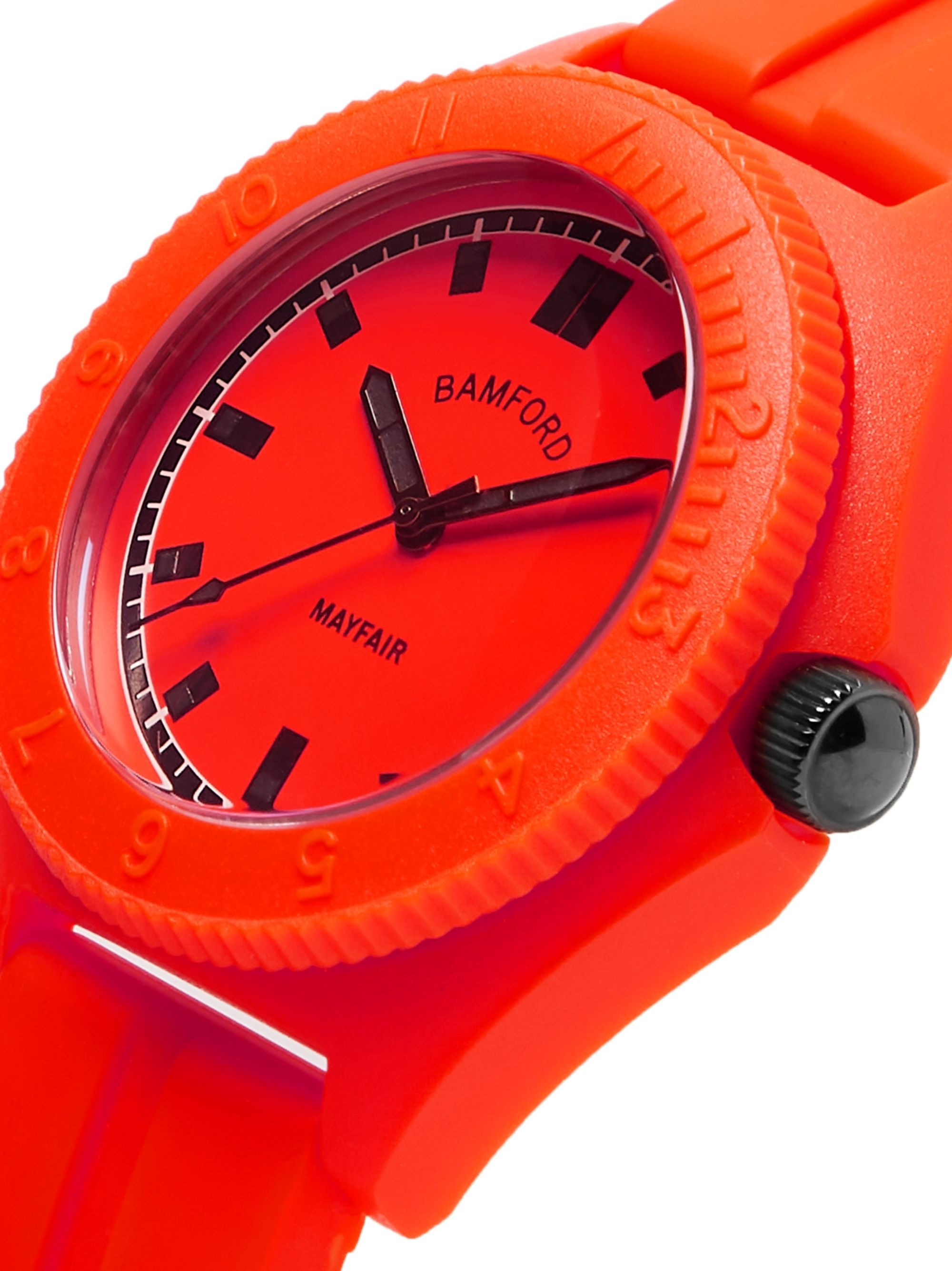 Red Mayfair Sport Polymer And Rubber Watch | Bamford Department