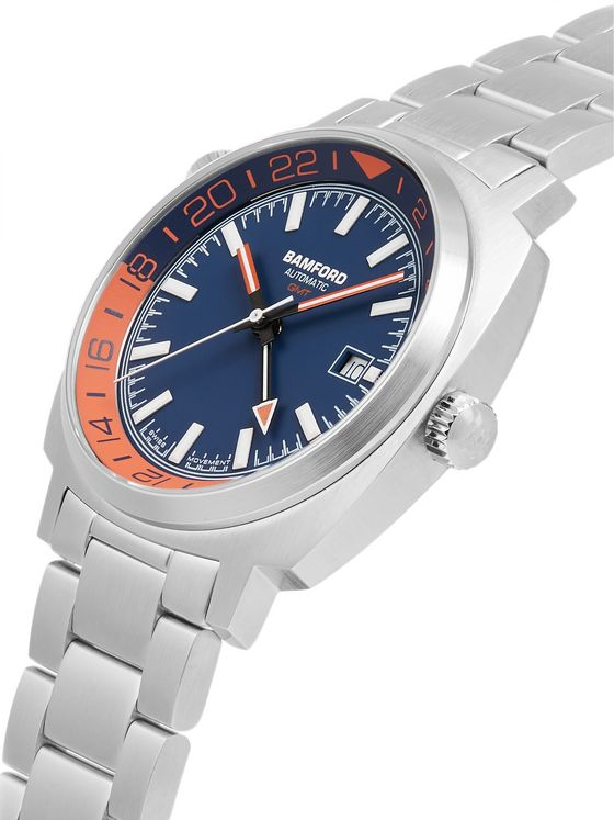 BAMFORD LONDON GMT Automatic 40mm Stainless Steel Watch