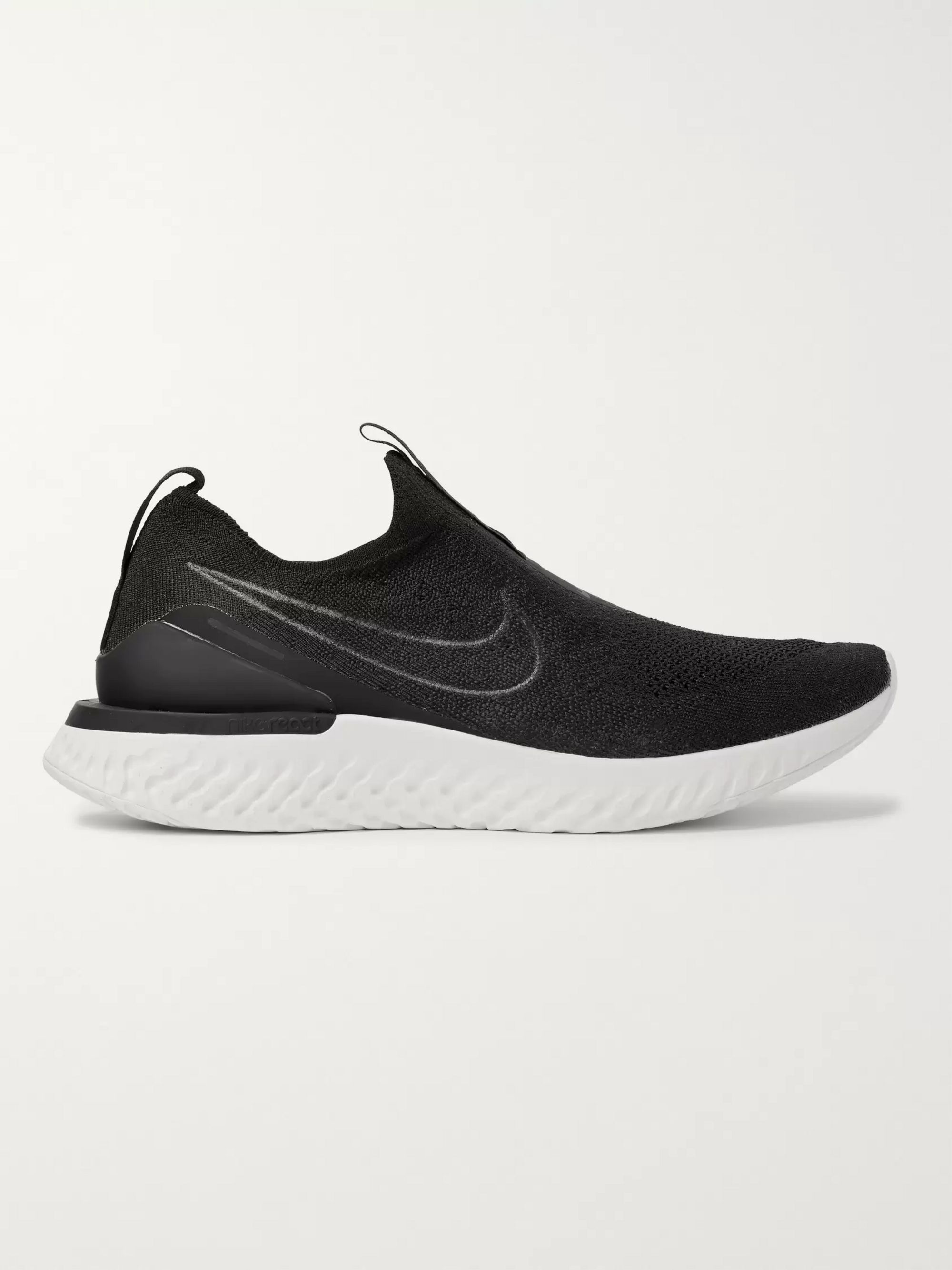 Nike Running Epic Phantom React Flyknit Slip-On Running Sneakers