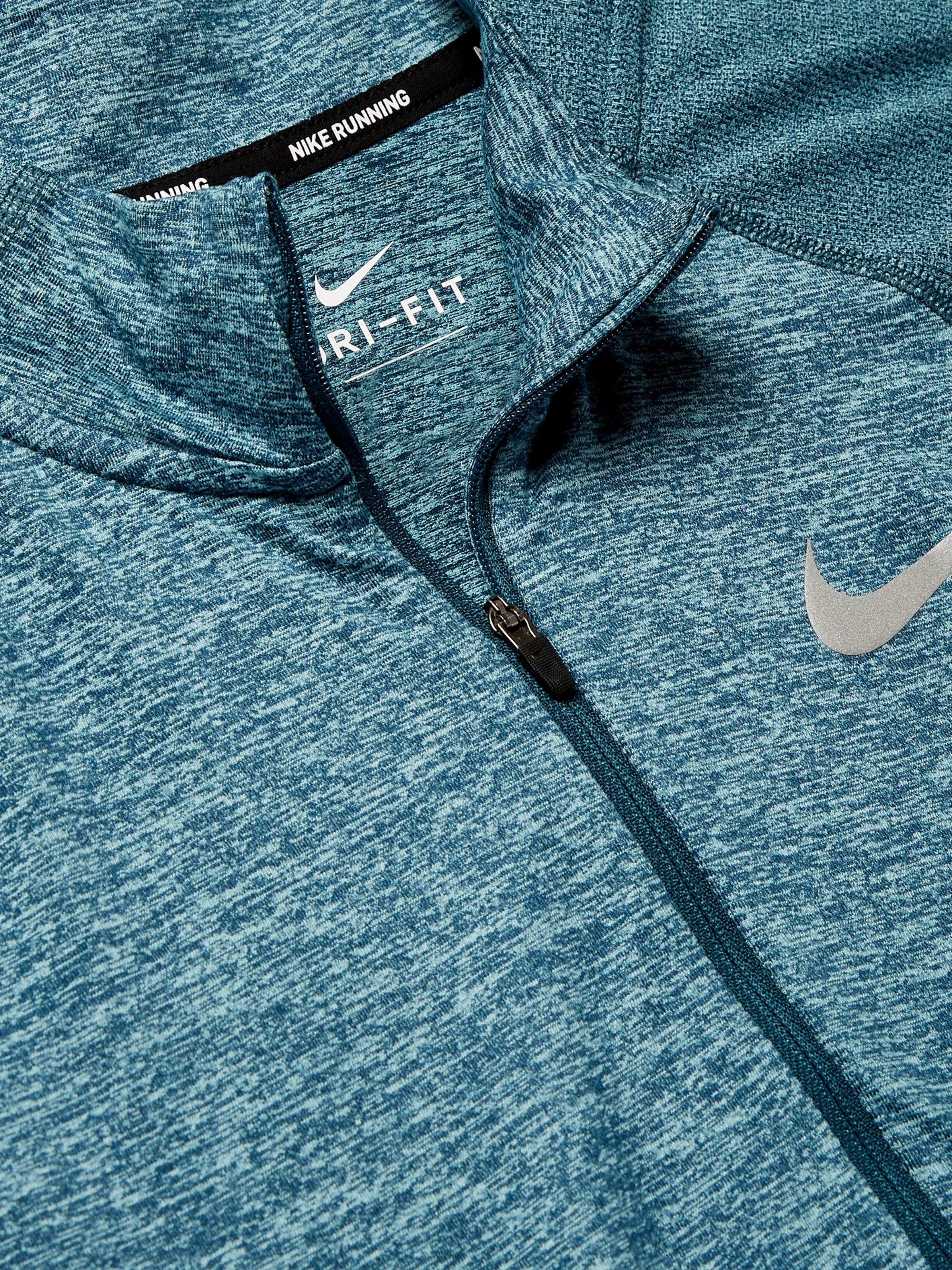 Nike Running Element Mélange Dri-FIT Half-Zip Top