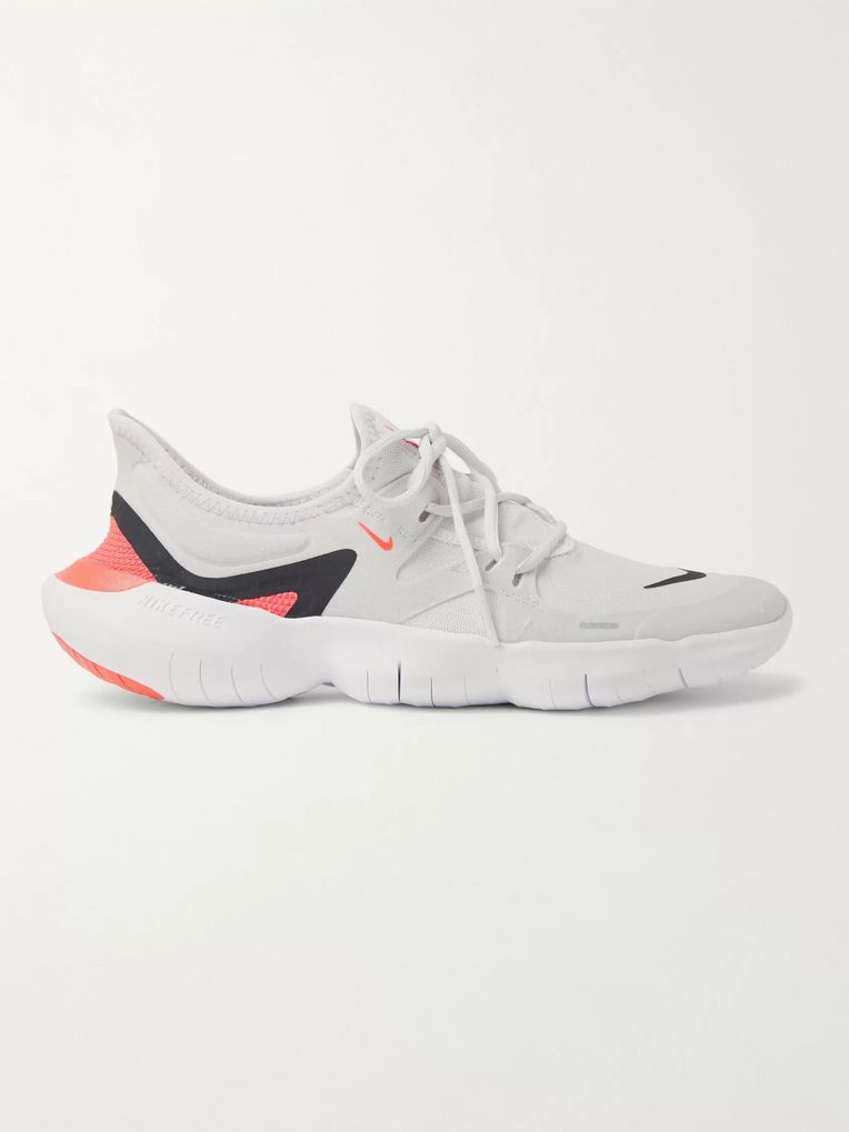 Nike Running Free RN 5.0 Mesh and Faux Suede Running Sneakers