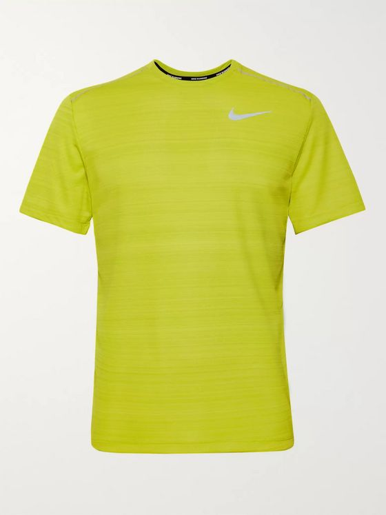 Nike Running Miler Logo-Print Breathe Dri-FIT T-Shirt