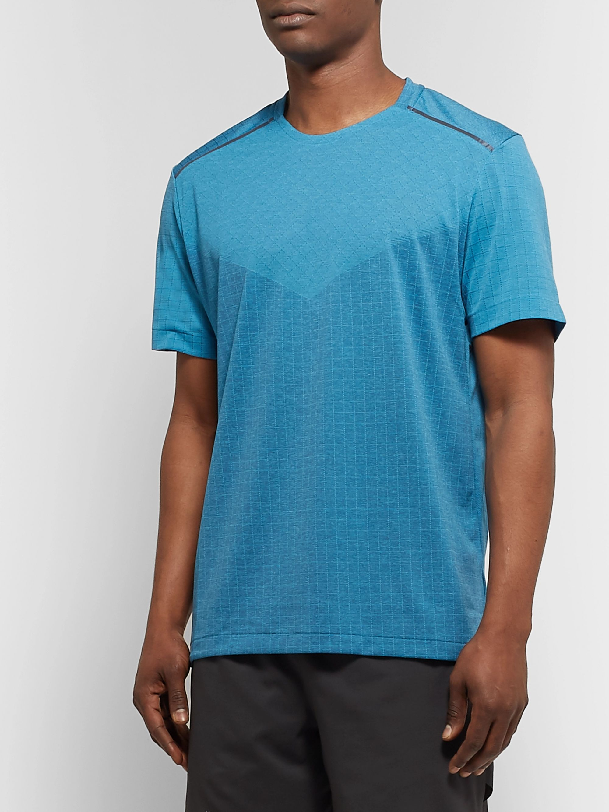 Nike Running Tech Pack Perforated Stretch Jacquard-Knit T-Shirt