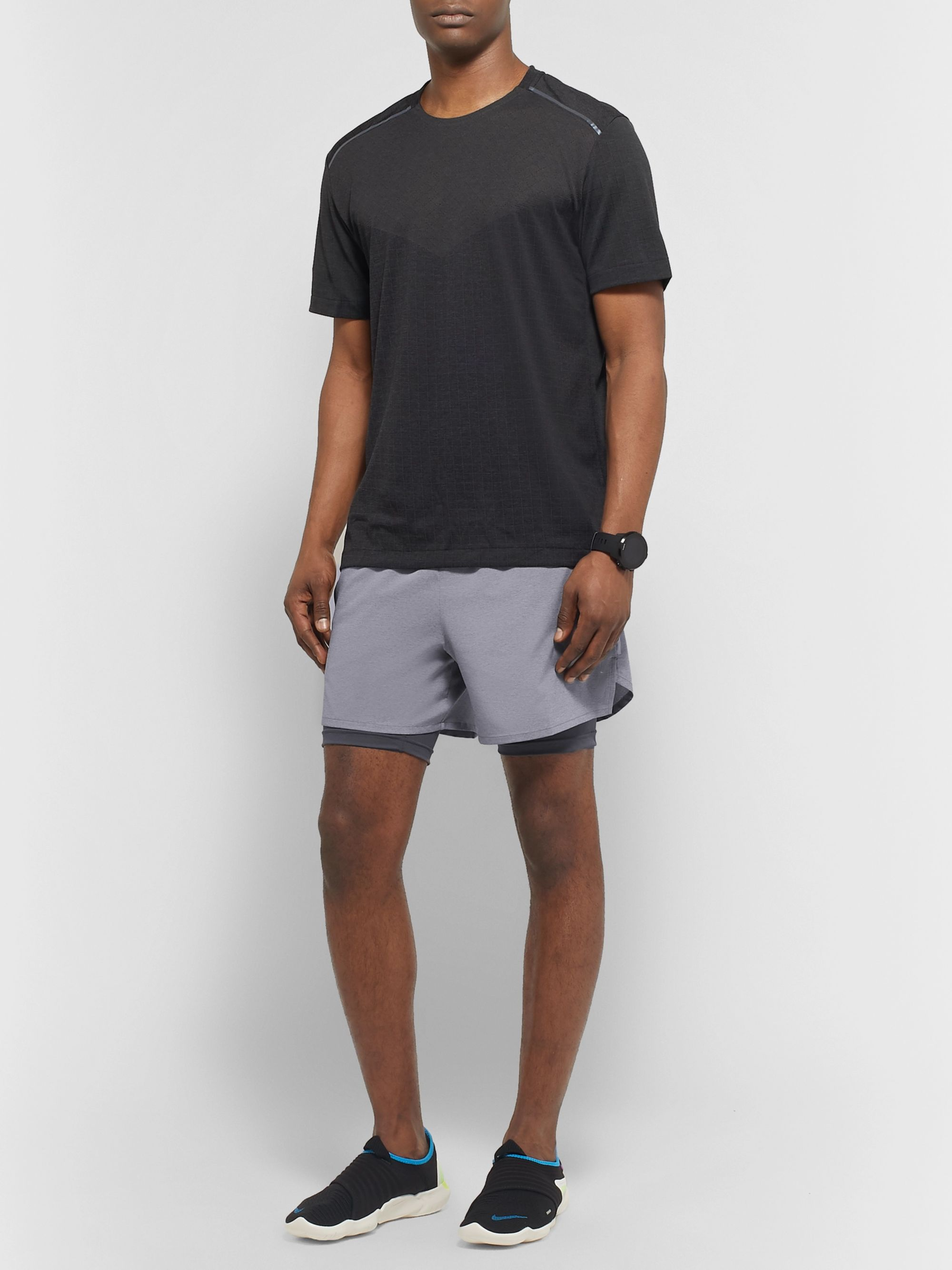 Nike Running Stride 2-in-1 Flex Dri-FIT and Mesh Shorts