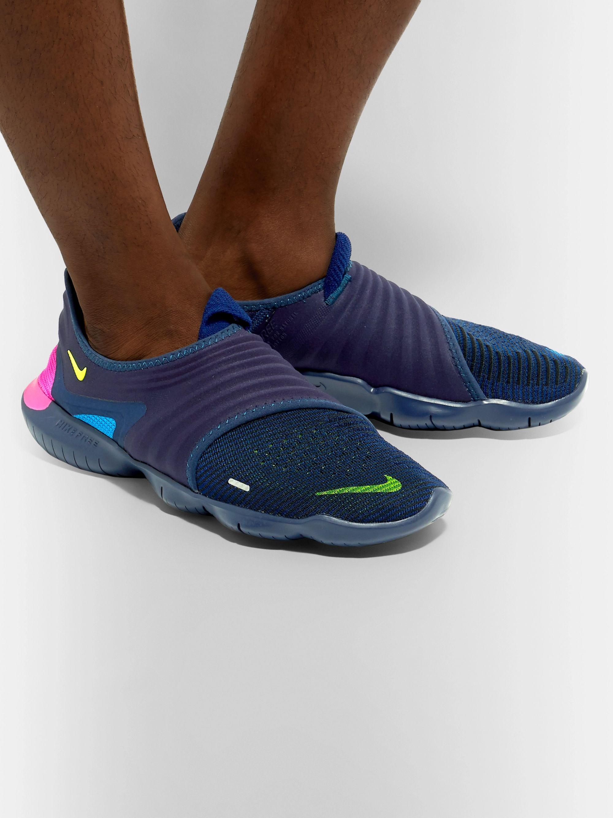 Free RN 3.0 Flynit and Neoprene Slip On Sneakers