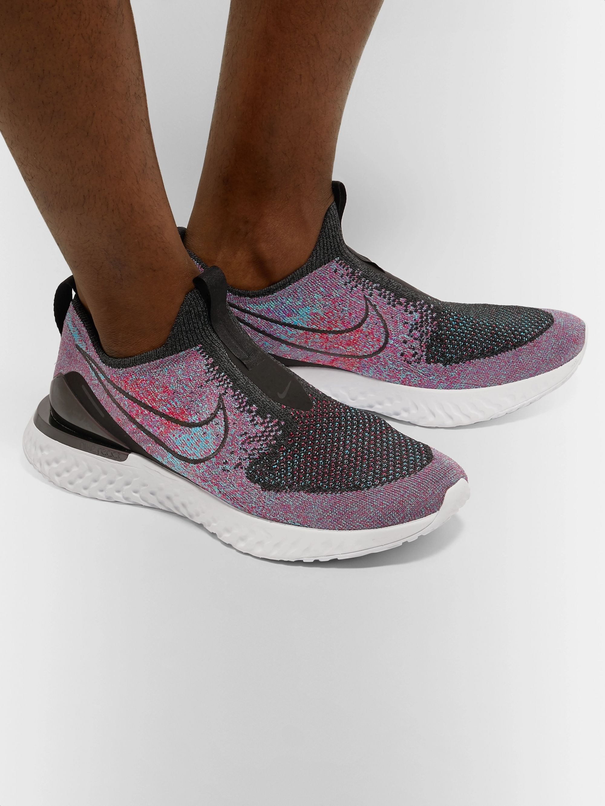 Epic Phantom React Flyknit Slip On Running Sneakers