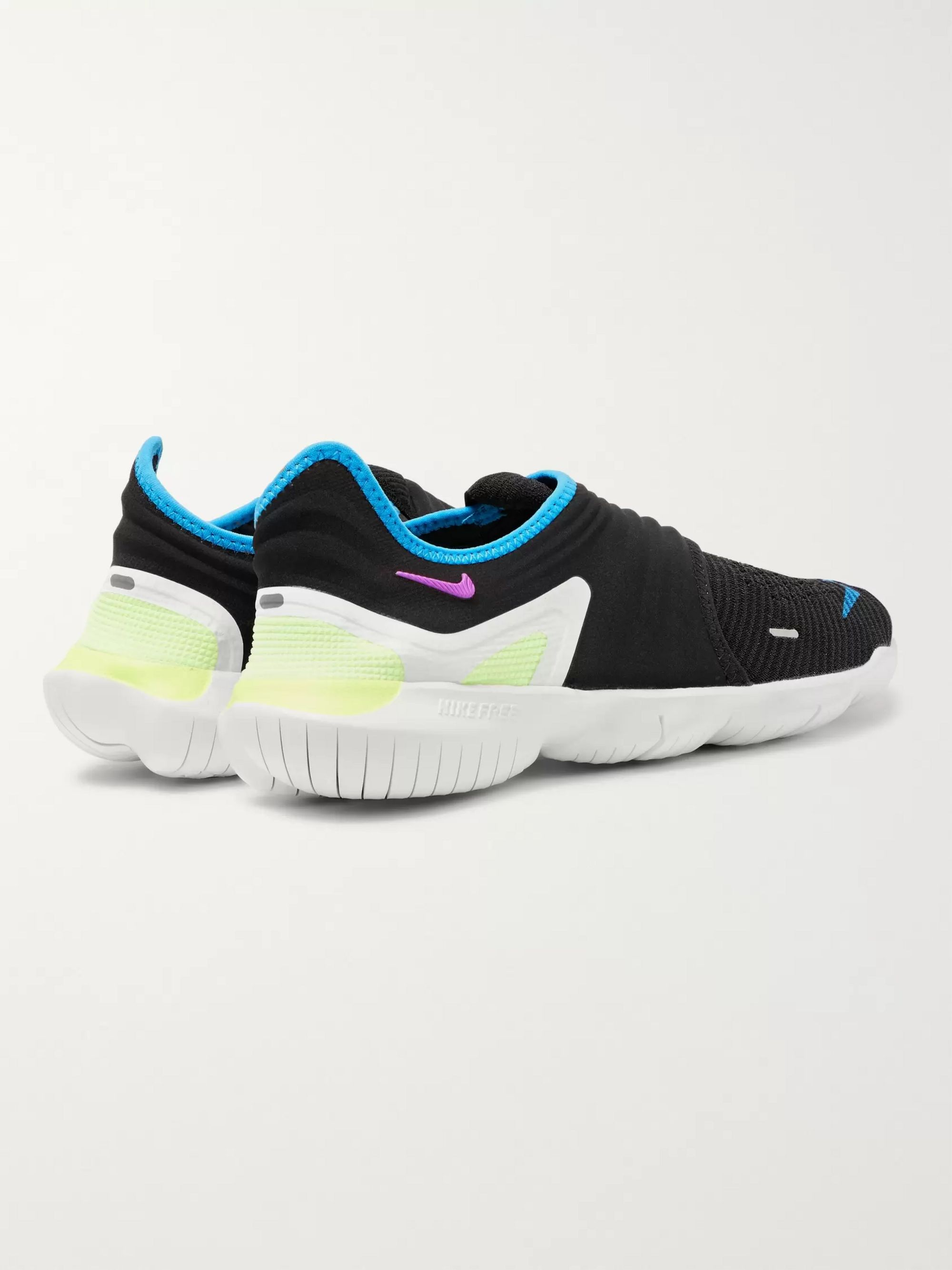 Free RN 3.0 Flynit and Neoprene Slip On Sneakers