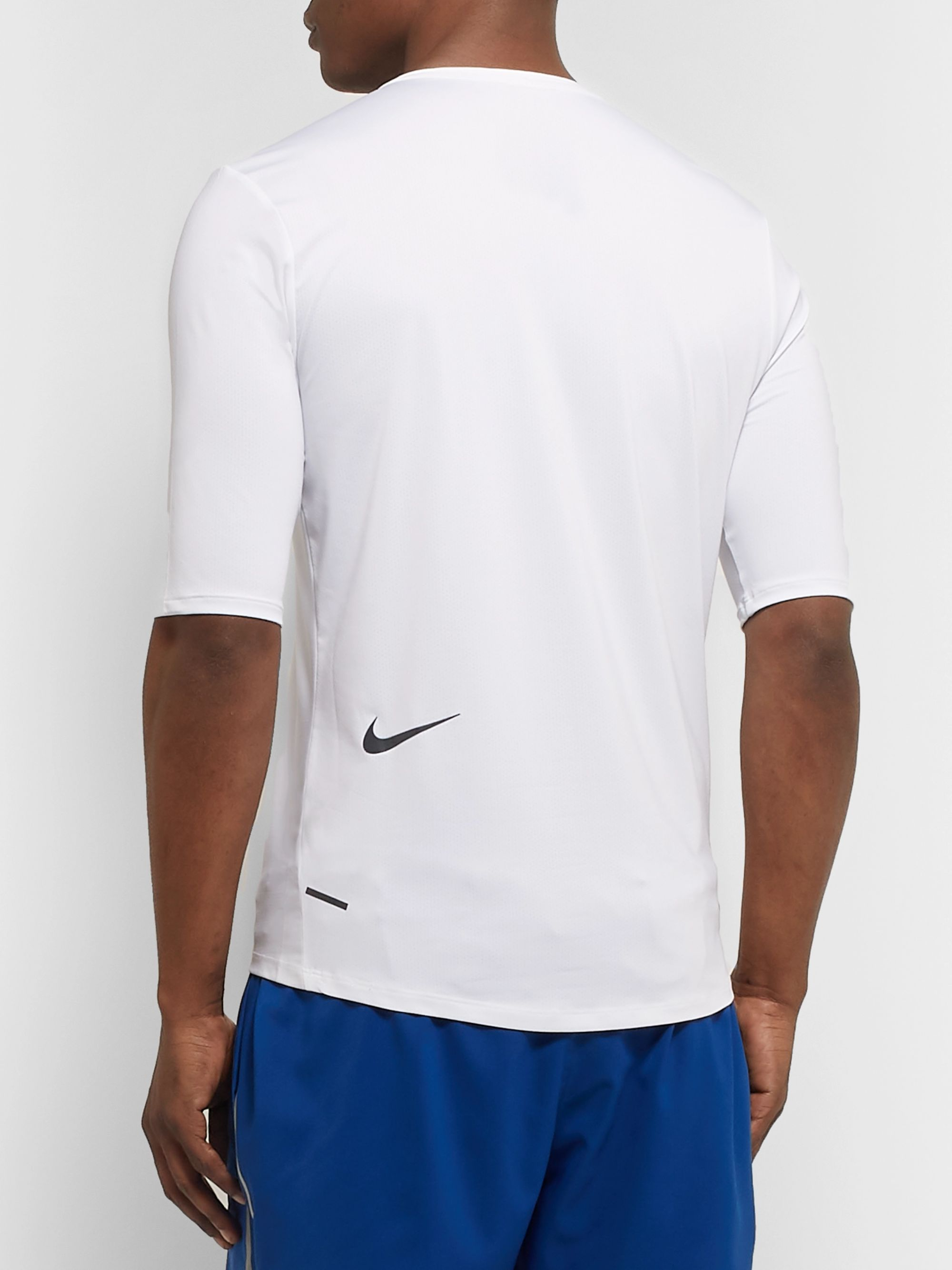 Nike Running Tech Pack Printed Stretch-Jersey and Mesh Half-Zip Top