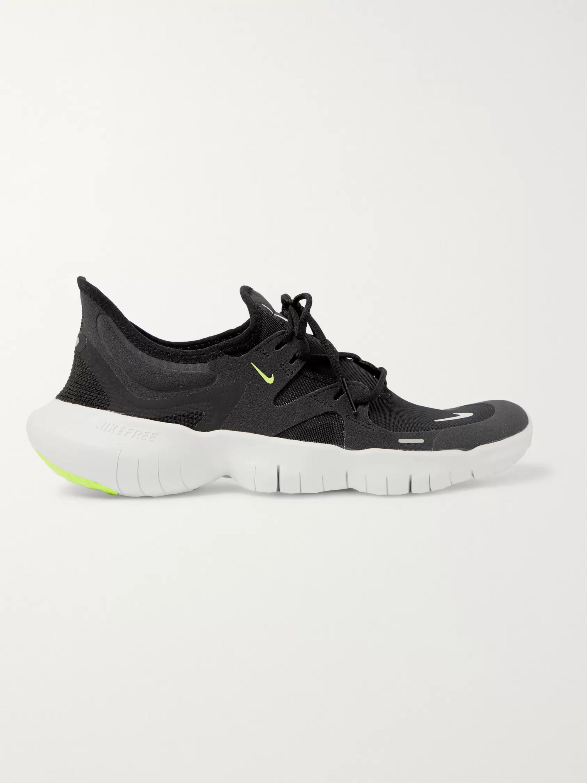 Nike Running Free RN 5.0 Mesh and Faux Suede Sneakers