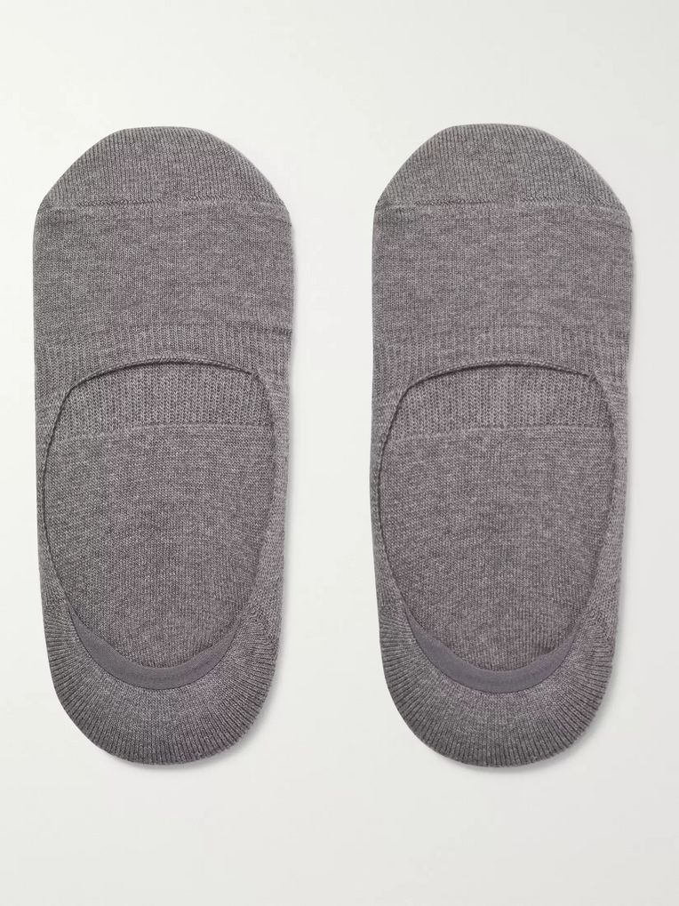 Anonymous Ism Mélange Stretch Cotton-Blend No-Show Socks