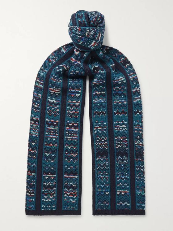 Missoni Crochet-Knit Wool-Blend Scarf