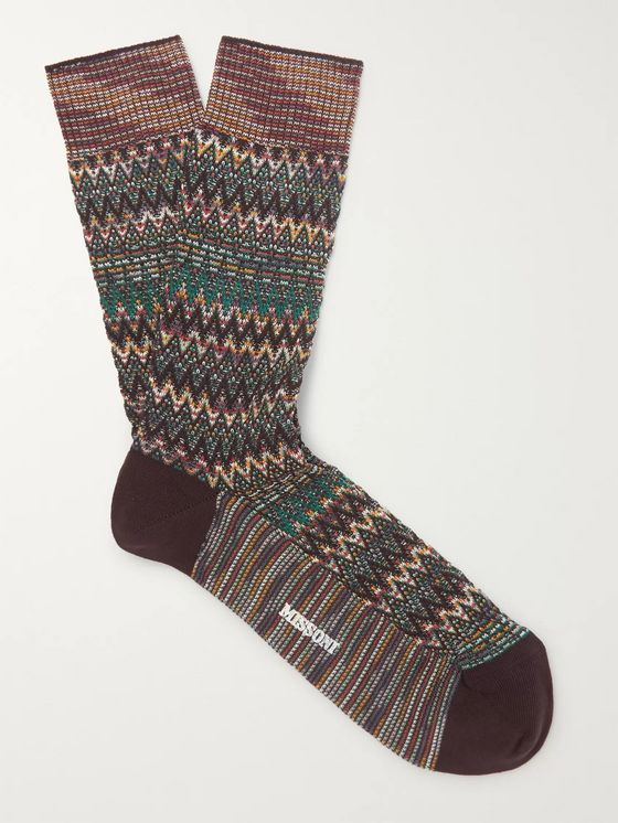 Missoni Cotton-Blend Jacquard Socks
