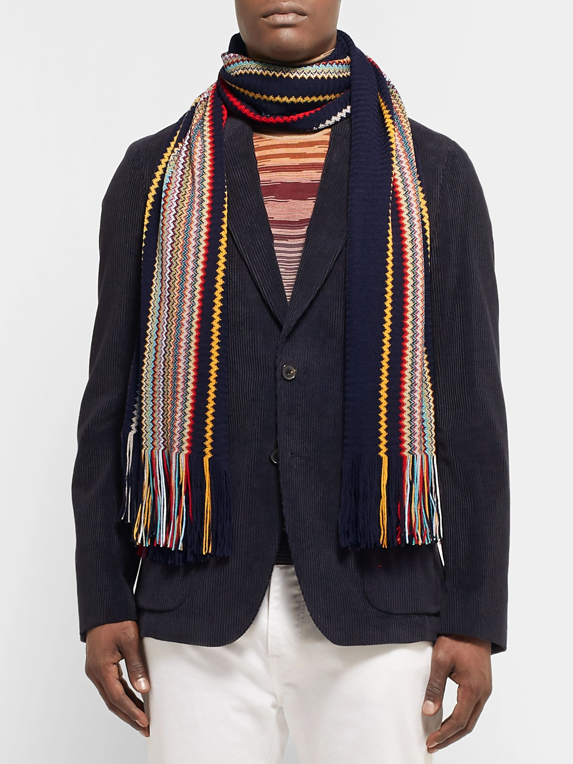 Missoni Fringed Striped Wool-Blend Scarf