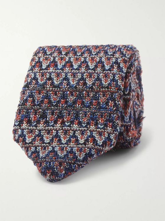 Missoni 6cm Crochet-Knit Wool and Silk-Blend Tie