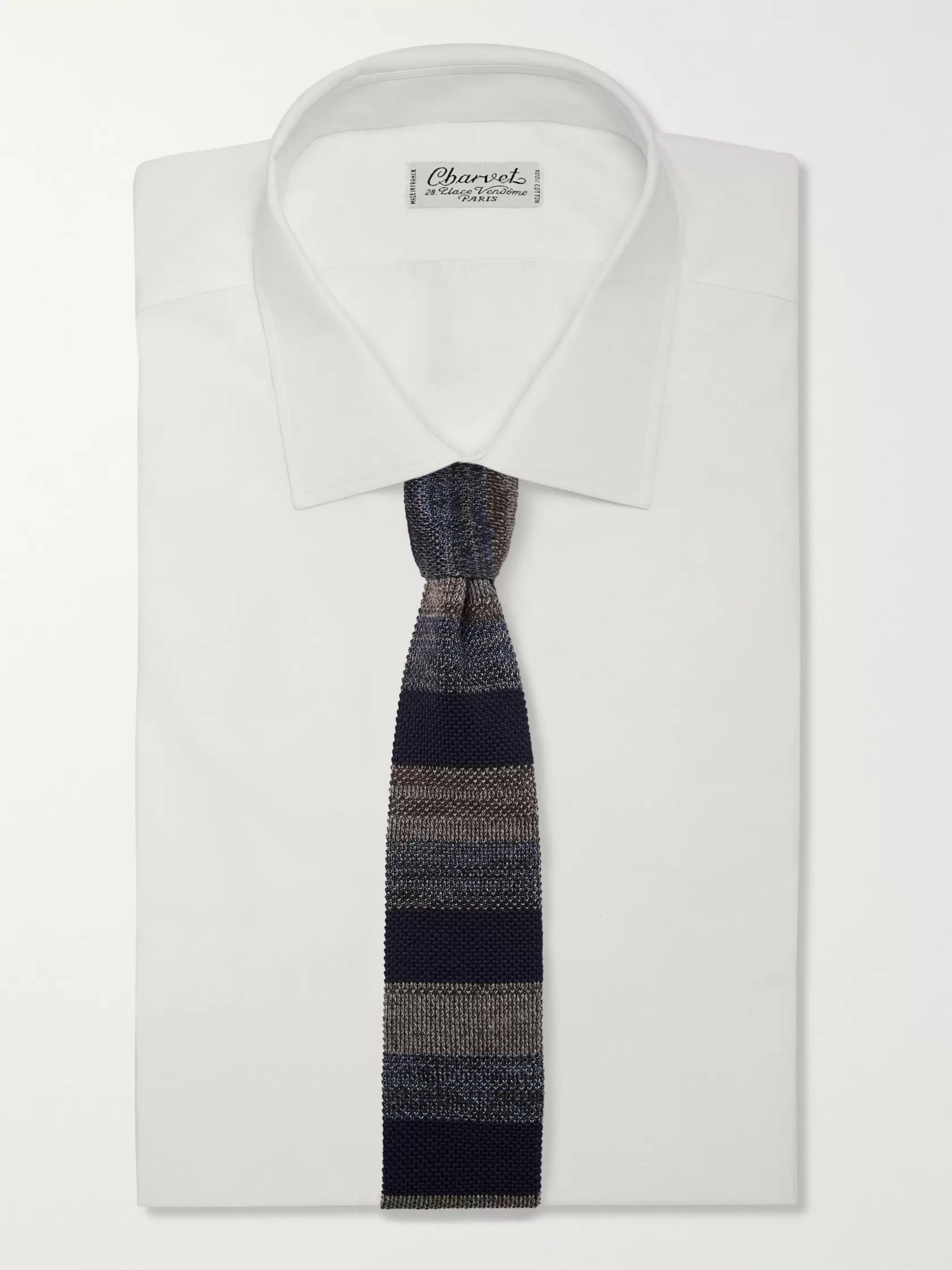Missoni 6cm Striped Knitted Wool and Silk-Blend Tie