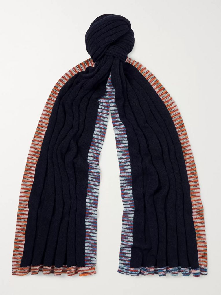 Missoni Space-Dyed Cashmere and Wool-Blend Scarf