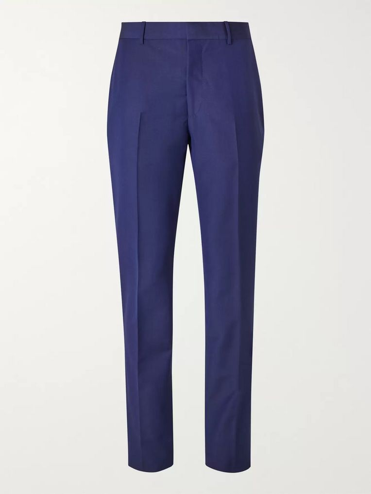 Alexander McQueen Royal-Blue Slim-Fit Wool and Mohair-Blend Suit Trousers