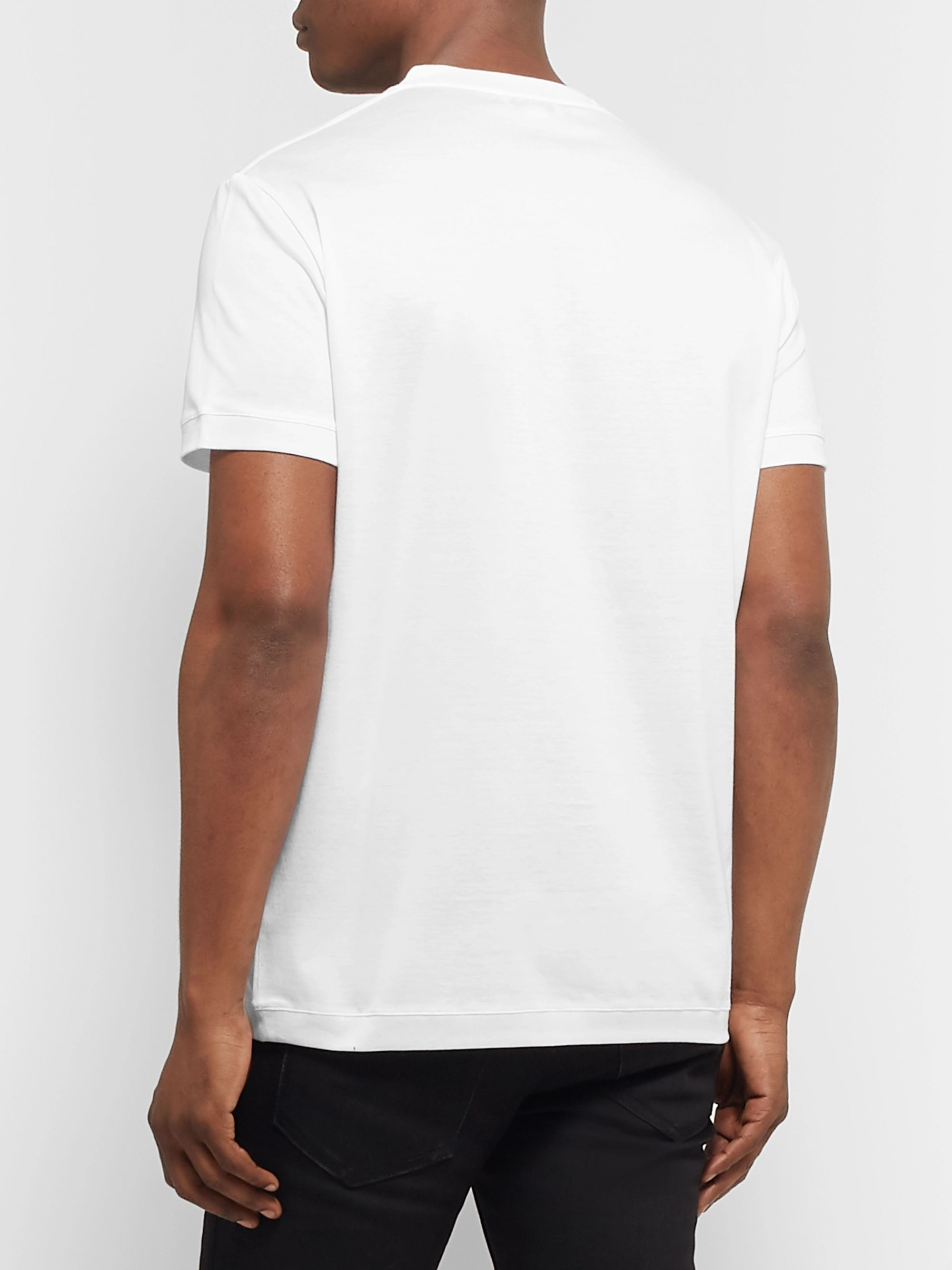 Alexander McQueen Logo-Embroidered Cotton-Jersey T-Shirt