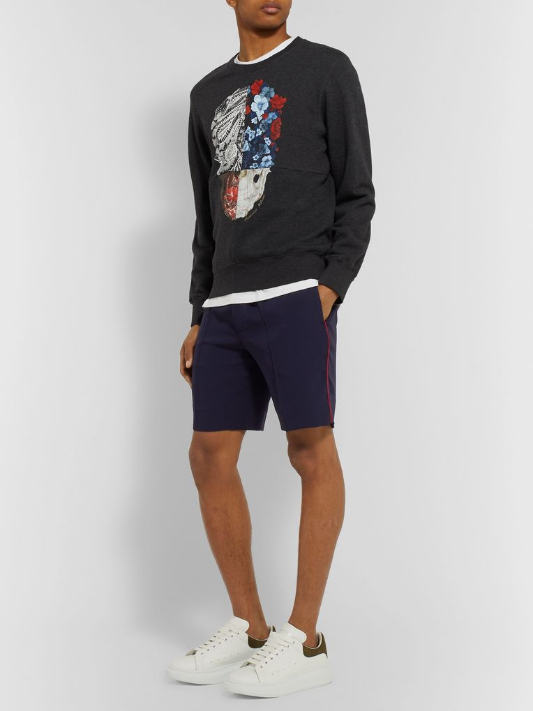 Alexander McQueen Piped Crepe Shorts