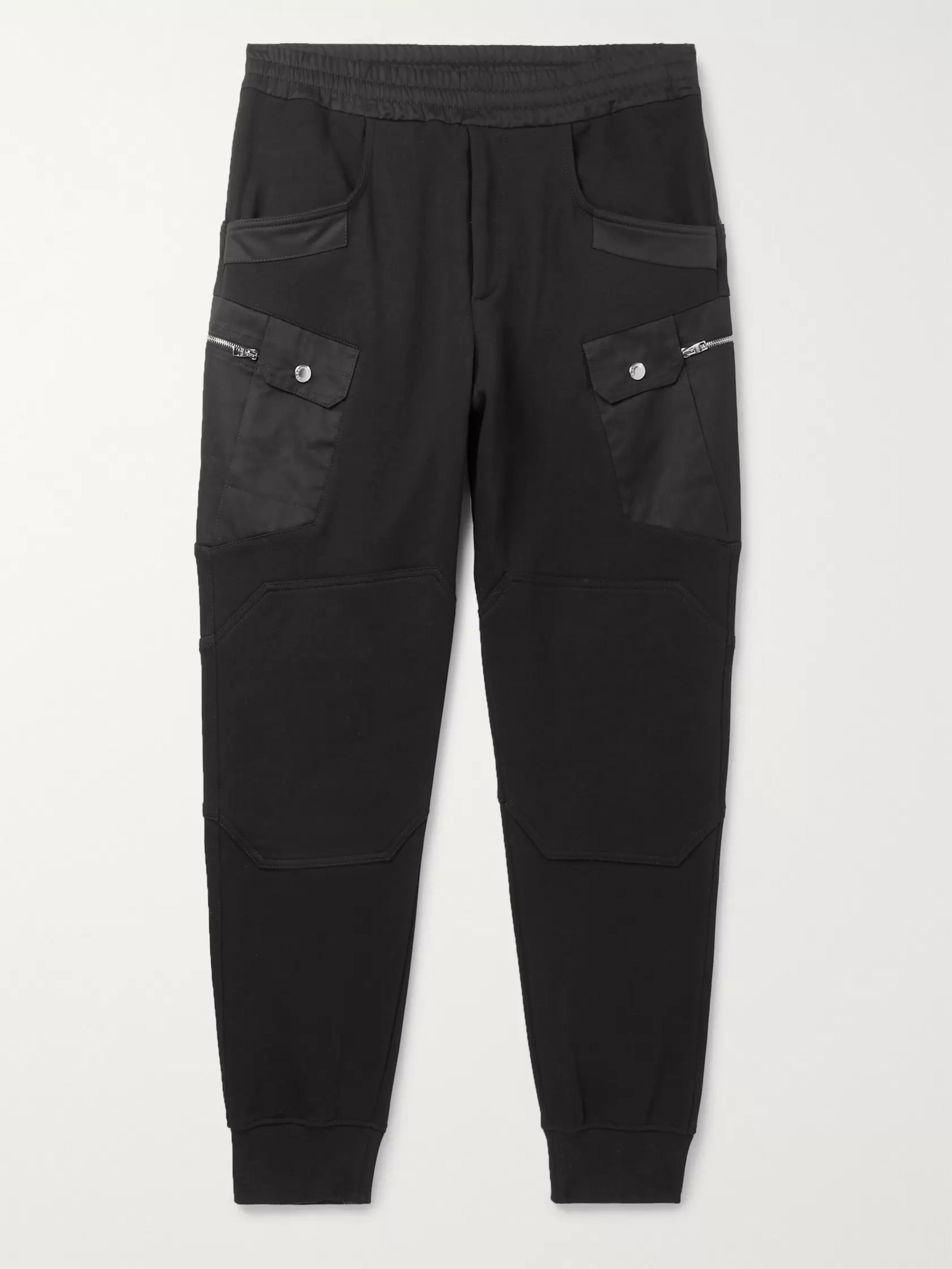 Alexander McQueen Tapered Loopback Cotton-Jersey Cargo Sweatpants