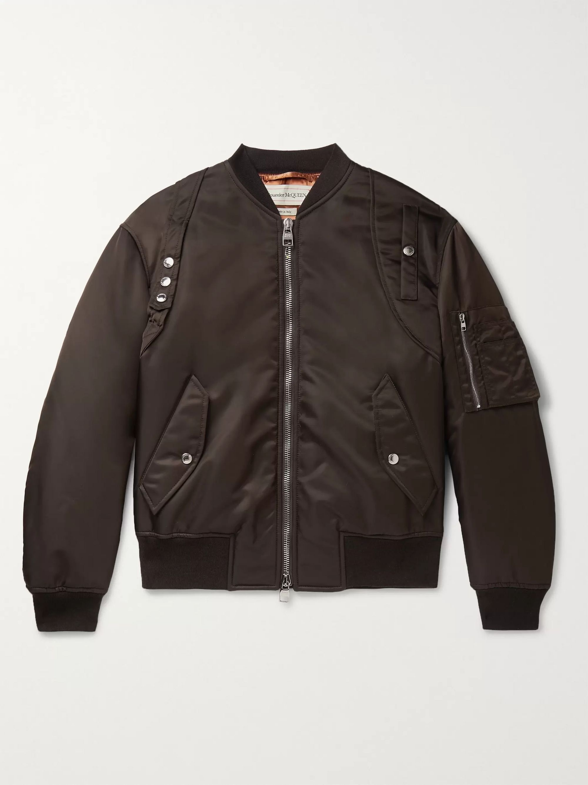 Harness Detailed Nylon Bomber Jacket by Alexander Mc Queen