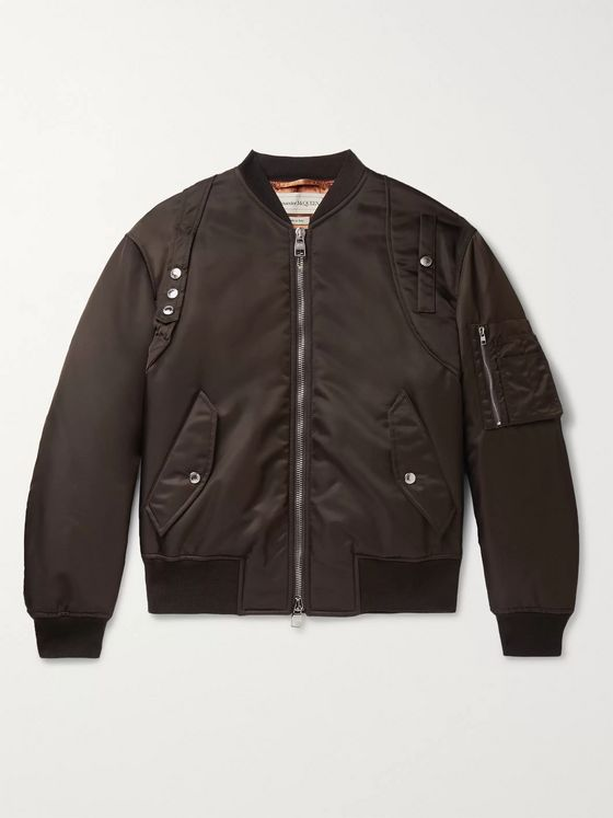 Alexander McQueen Harness-Detailed Nylon Bomber Jacket