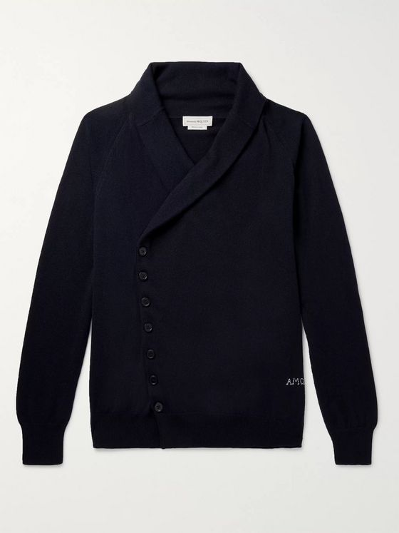 Alexander McQueen Embroidered Cashmere Cardigan