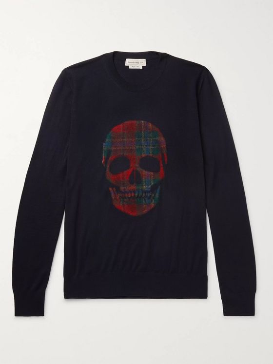 Alexander McQueen Flocked Wool Sweater