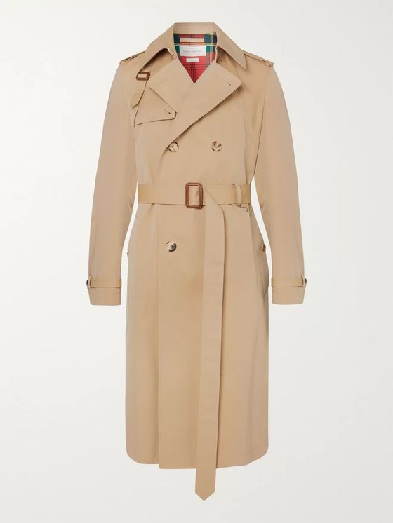 Alexander McQueen Cotton-Gabardine Trench Coat