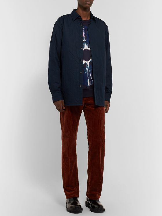 Dries Van Noten Quilted Cotton-Blend Overshirt