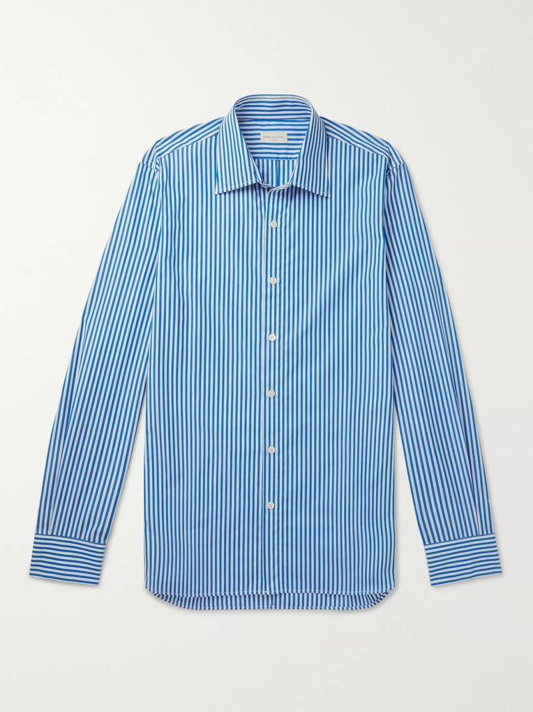 Dries Van Noten Chelsea Slim-Fit Striped Cotton-Poplin Shirt