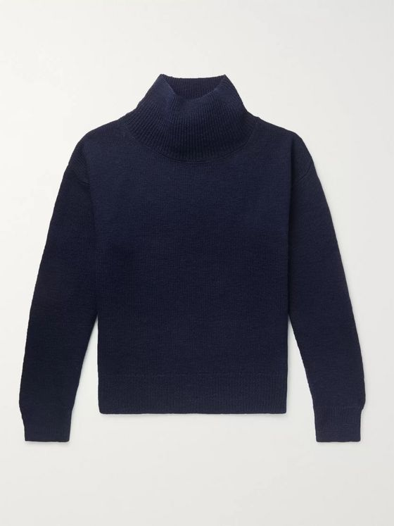 Dries Van Noten Merino Wool Mock-Neck Sweater