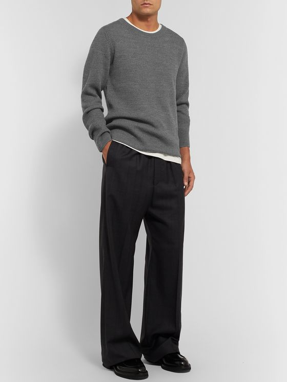 Dries Van Noten Ribbed Merino Wool Sweater
