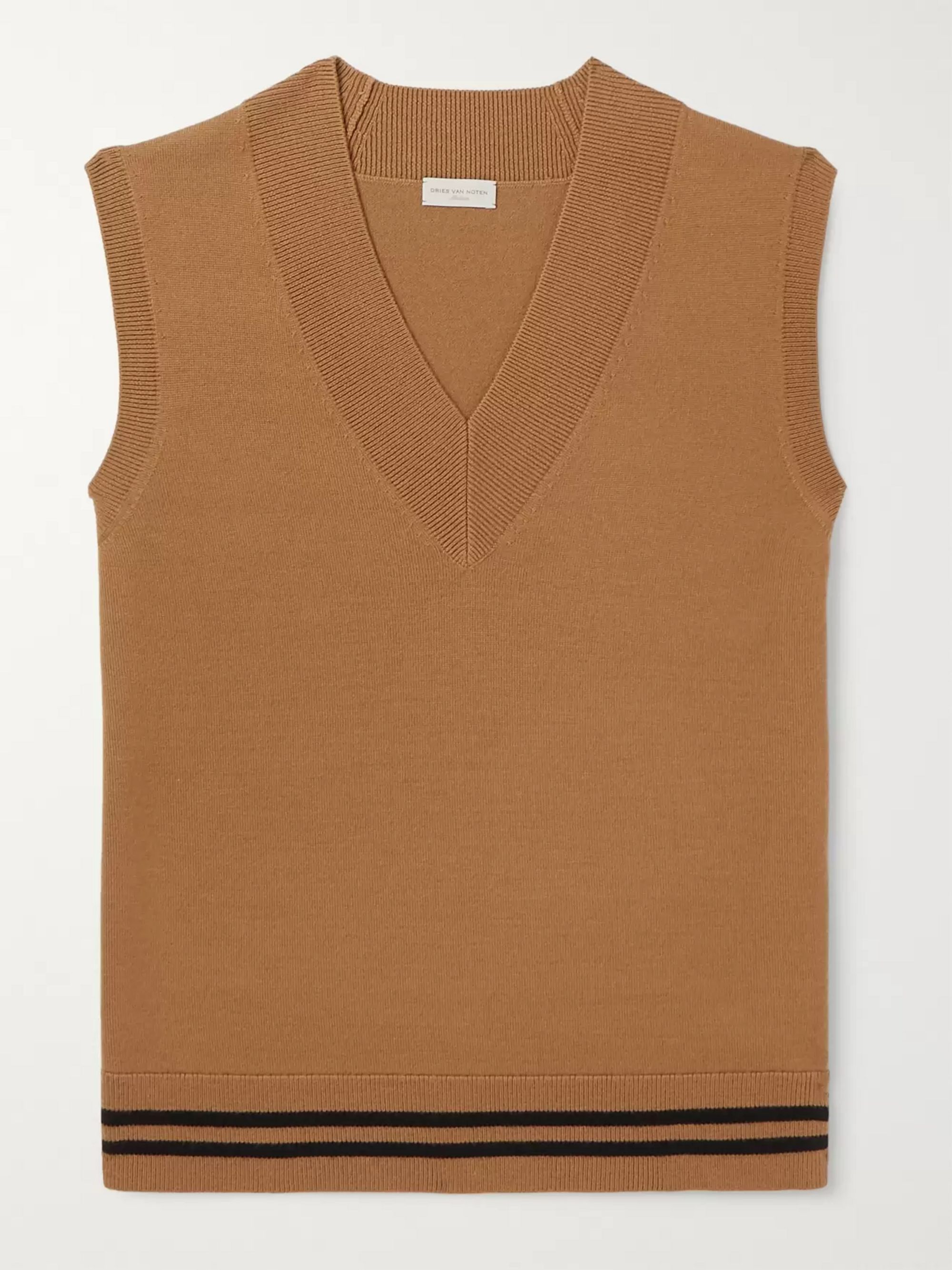 Striped Merino Wool Sweater Vest by Dries Van Noten