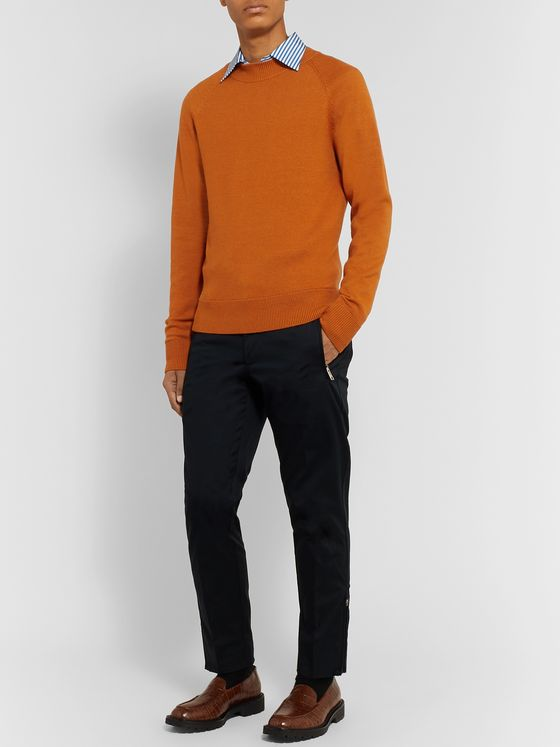 Dries Van Noten Slim-Fit Merino Wool Sweater