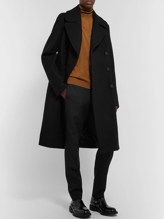 Dries Van Noten Slim-Fit Double-Breasted Wool-Blend Coat