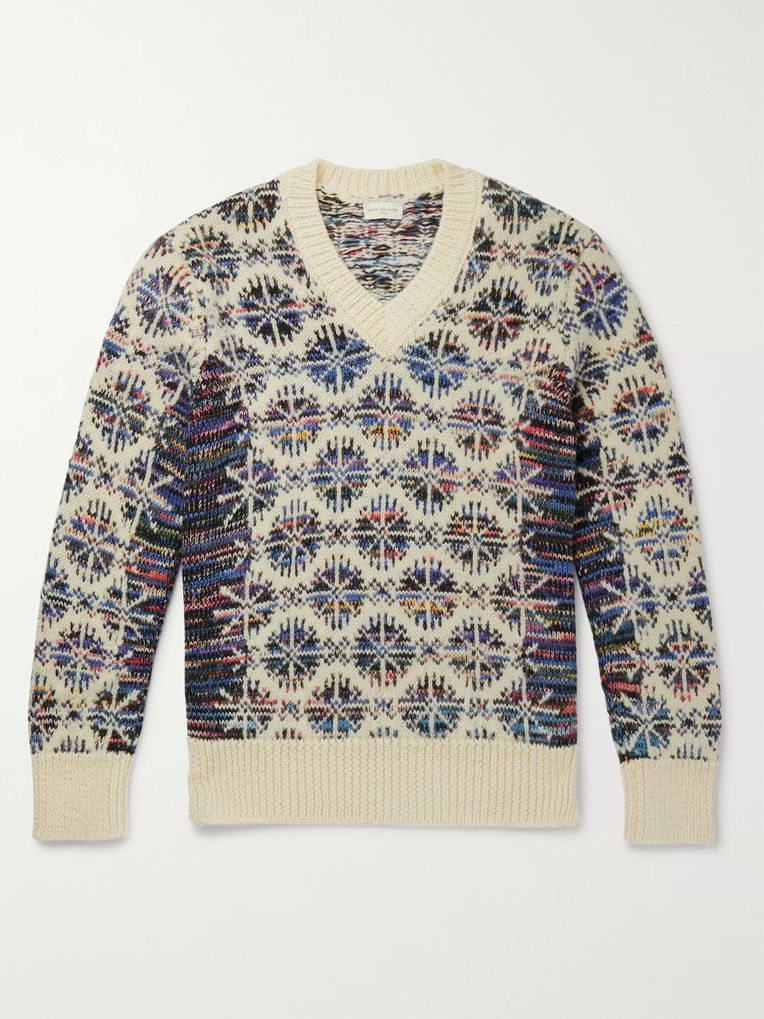 Dries Van Noten Wool-Jacquard Sweater