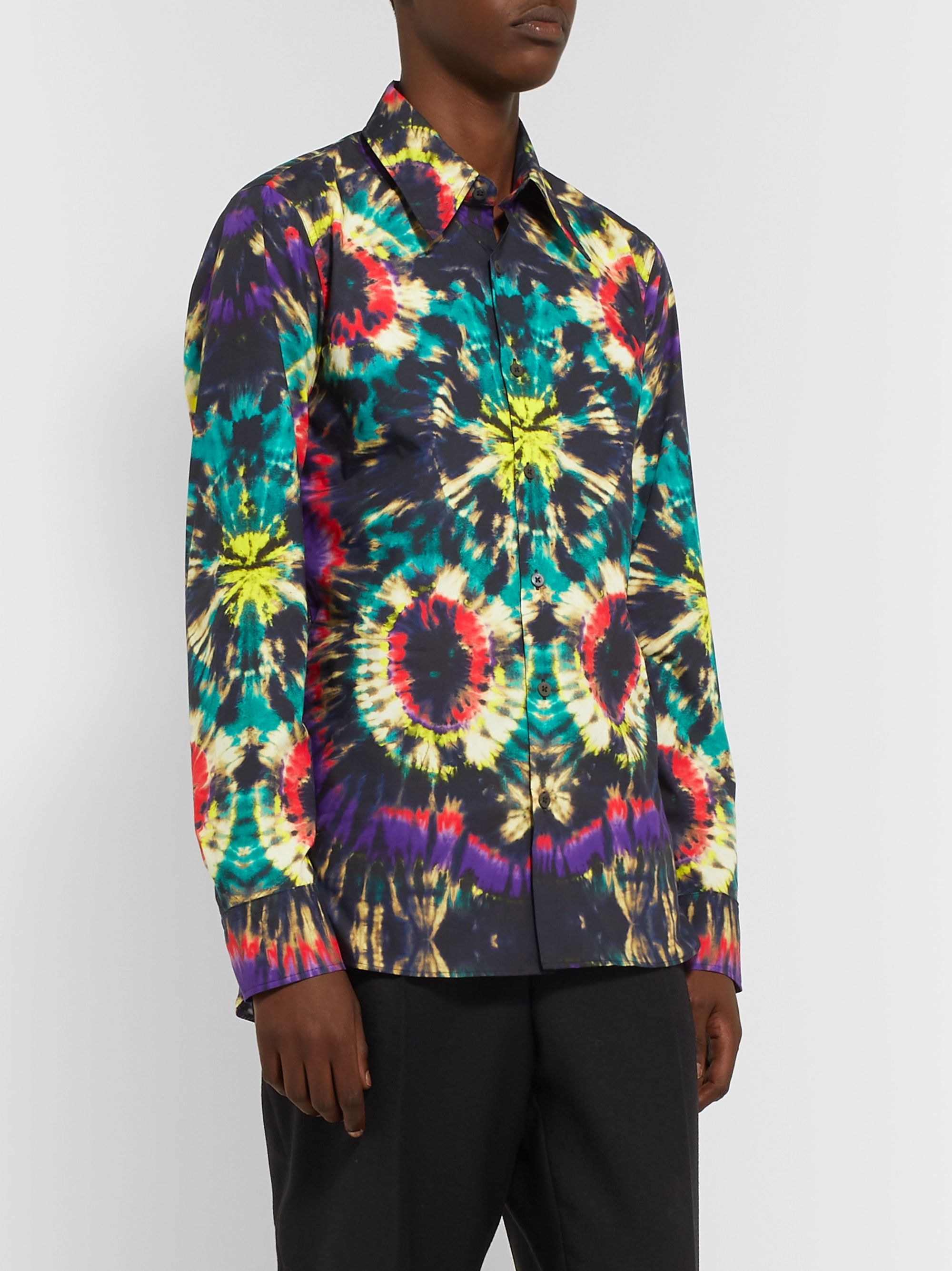 Dries Van Noten Tie-Dyed Cotton-Poplin Shirt