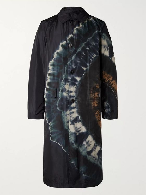 Dries Van Noten Reversible Tie-Dyed Shell Trench Coat
