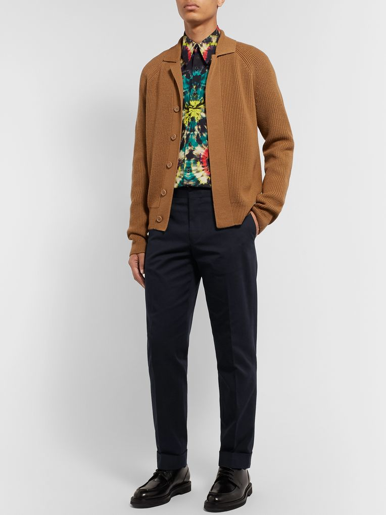 Dries Van Noten Tapered Cotton-Twill Trousers